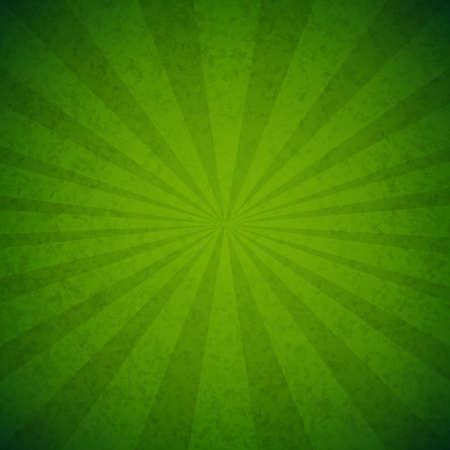Green Burst Poster, With Gradient Mesh, Vector Illustration