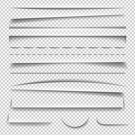 Shadow Effect Set, With Gradient Mesh, Vector Illustration Vektoros illusztráció