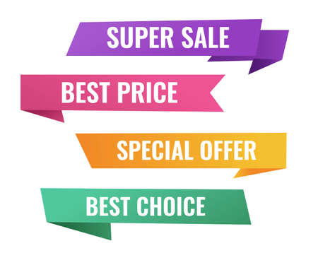 Sale Origami Banner With White Background, Vector Illustration Vector Illustratie