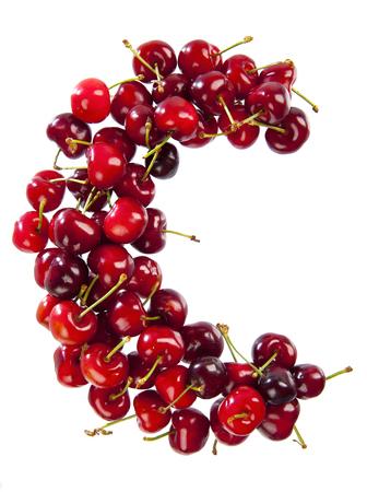 letter c: Letter C as Cherry