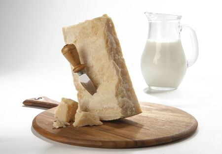 boxcutter: Parmigiano Reggiano with the background jug of milk