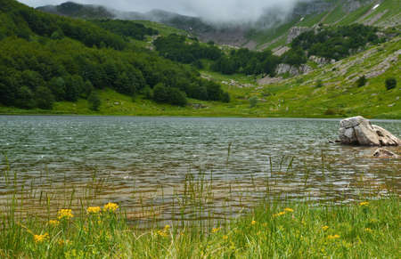 appennino: High mountain lake in the summer