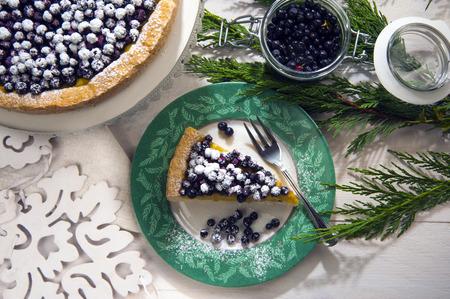 blacks: slice of tart cranberry blacks Stock Photo