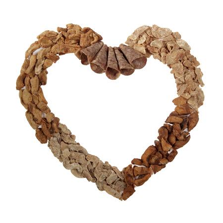 greaves: Greaves of pork heart-shaped
