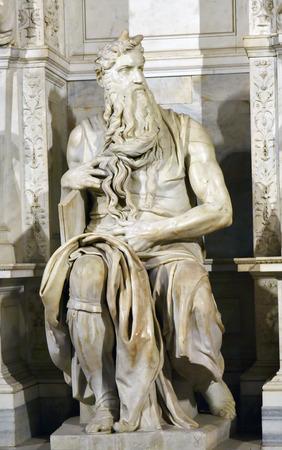 vincoli: Sculpture of Michelangelos Moses in San Pietro in Vincoli in Rome