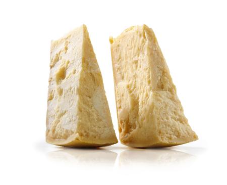 due punte di formaggio grana Stock Photo