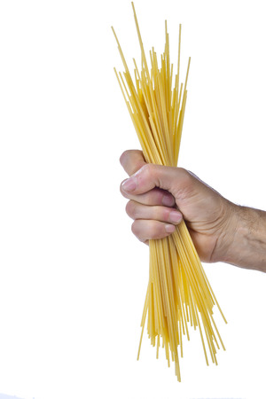 Spaghetti fist with white background