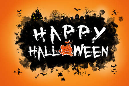 Scary Happy Halloween design Archivio Fotografico
