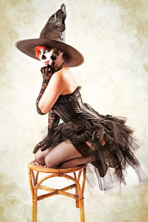 Pin up Witch for Halloween