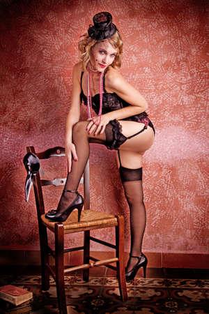 Burlesque Carnival Sexy Girl photo