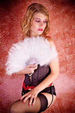 Burlesque Carnival Sexy Girl Archivio Fotografico
