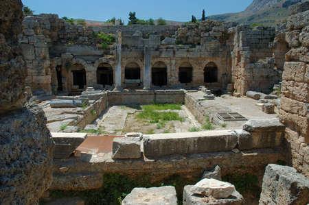 ancient greece: Ancient Corinth , Greece Editorial