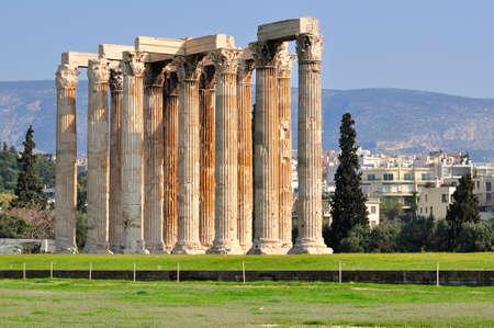 zeus: Temple of Olympian Zeus , Athens , Greece .
