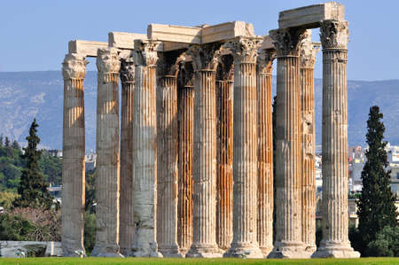 olympian: Temple of Olympian Zeus , Athens , Greece .