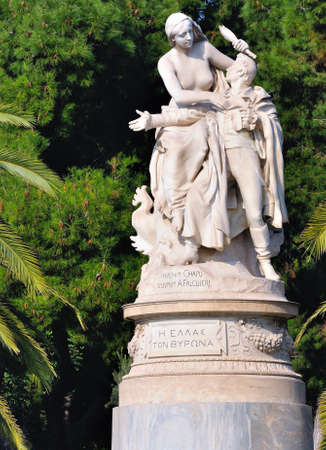 byron: Statue of Lord Byron in Athens.
