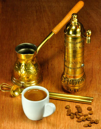 coffee pot: Traditional set for arabic and greek coffee making