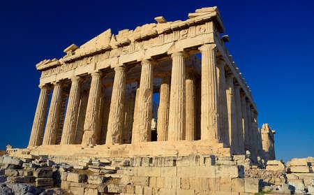 Parthenon , a temple on the Athenian Acropolis, Greece photo