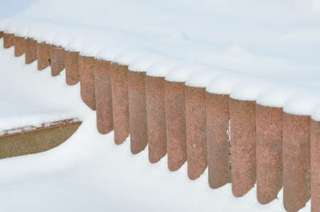 ledge: snowy ledge Stock Photo
