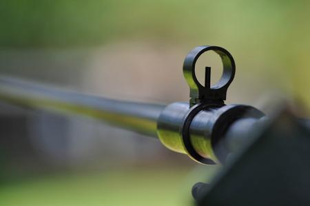 Mosin Nagant Rifle Gun with Bayonet Attached
