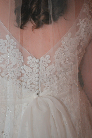 Rear View of a Bride in Her Wedding Gown