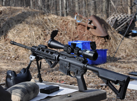 AR15 AR 15 Assault Gun Rifle 5.56 Caliber