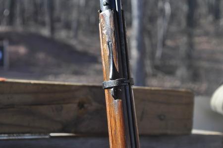 Mosin Nagant Rifle Gun at a Shooting Range