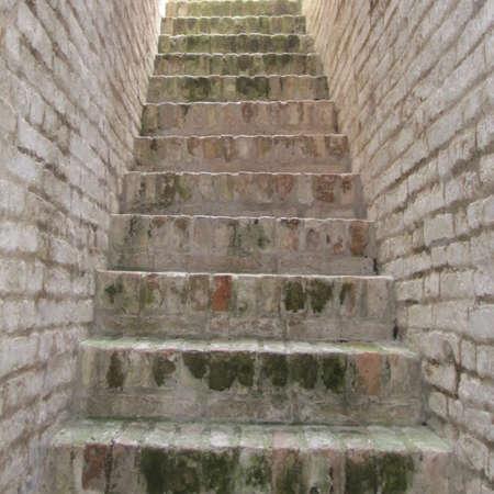 Ancient brick staircase