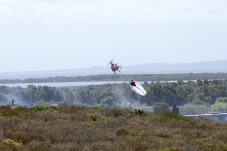 Helicopter firefighter