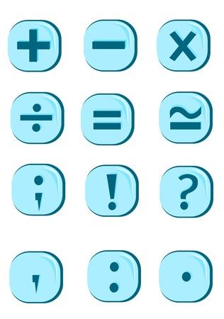 equals: Schaltfl�chensymbole Illustration