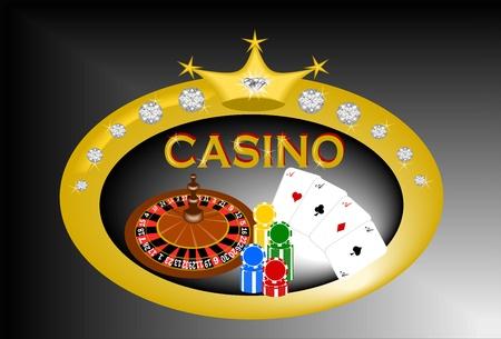 Casino banner Illustration