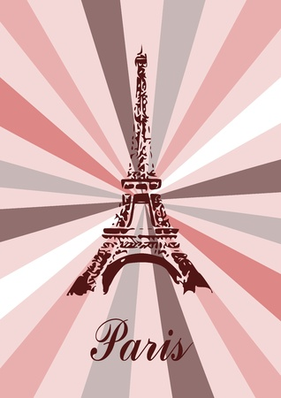 Eiffel tower in Paris Stock Vector - 11396356