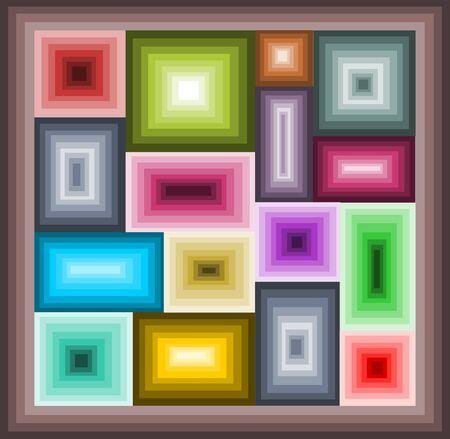 Mosaic of squares