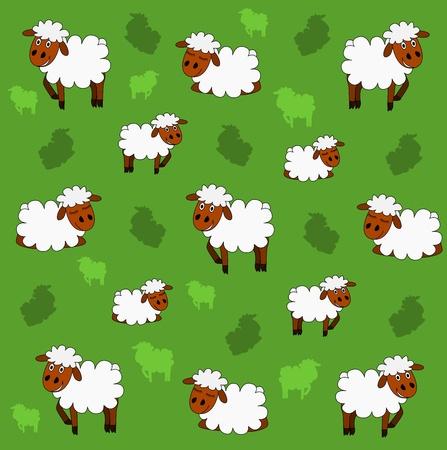 Cute sheep background