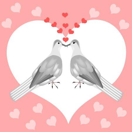 Turtle doves in love