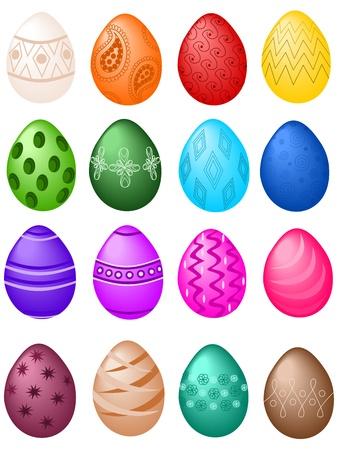 Easter eggs big set Ilustrace