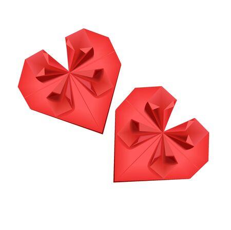 Origami hearts Stock Vector - 11898200