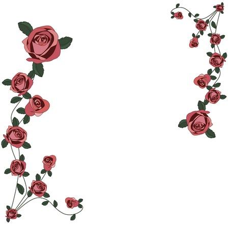 Roses frame Stock Vector - 12350257