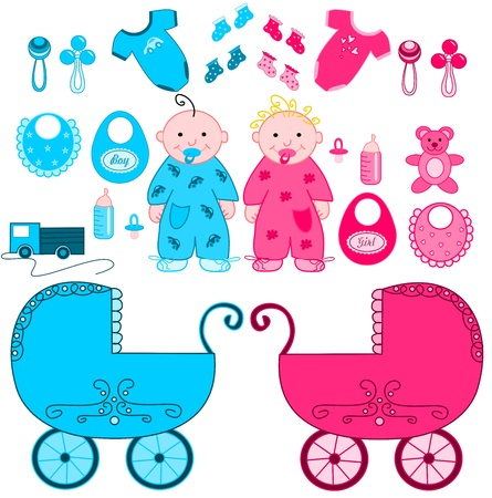 rattles: Babies with accessories