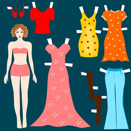 paper doll: Paper doll