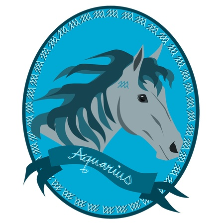 sagittarius: Horse - Aquarius Illustration