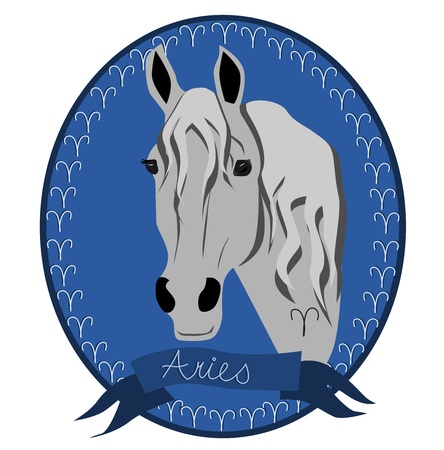 Horse zodiac - Aries Vector