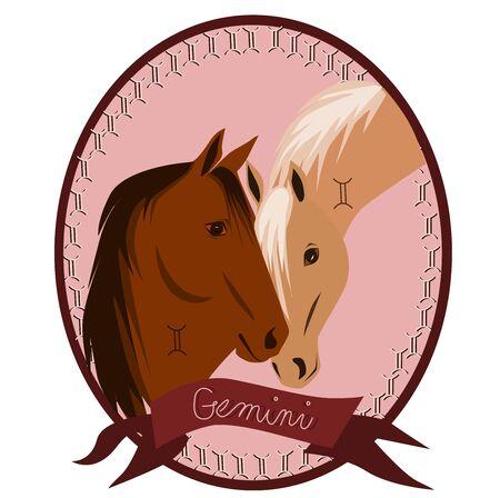 Horse - Gemini Stock Vector - 12788433
