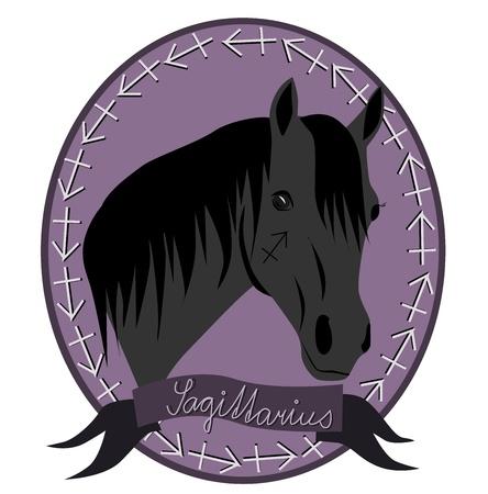 Horse zodiac - Sagittarius Vector