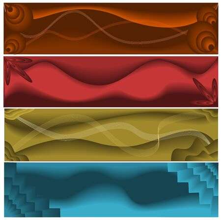 Abstract web banners Ilustrace