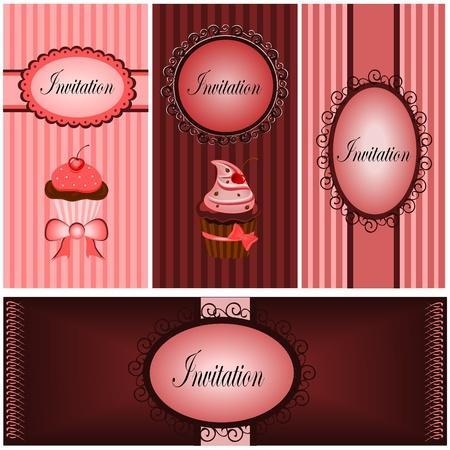 Set of vintages Ilustrace