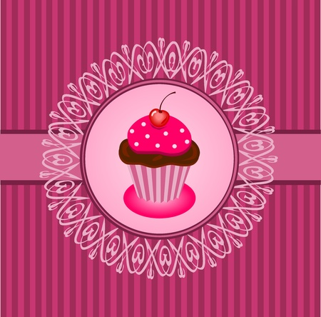 Cupcake vintage Stock Vector - 12788451