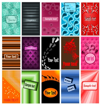 Set of business cards Stock Vector - 12788459
