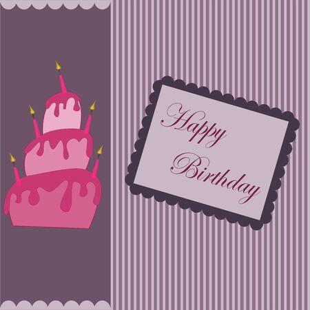 braun: Happy Birthday postcard