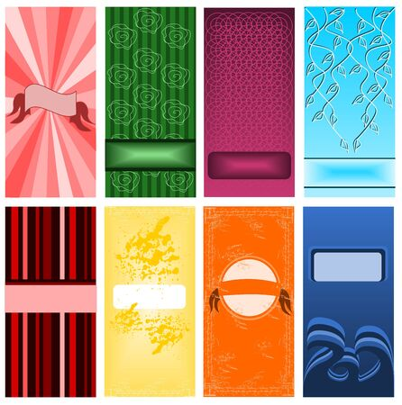 Set of cards Stock Vector - 12943293