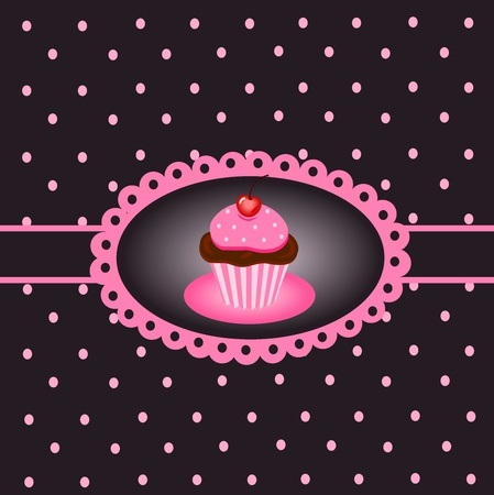 Cupcake vintage Stock Vector - 13014707